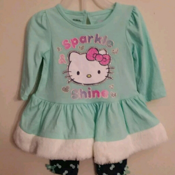 057138972 Hello Kitty Matching Sets | By Sanrio Girls 2pc Shirt Leggings ...